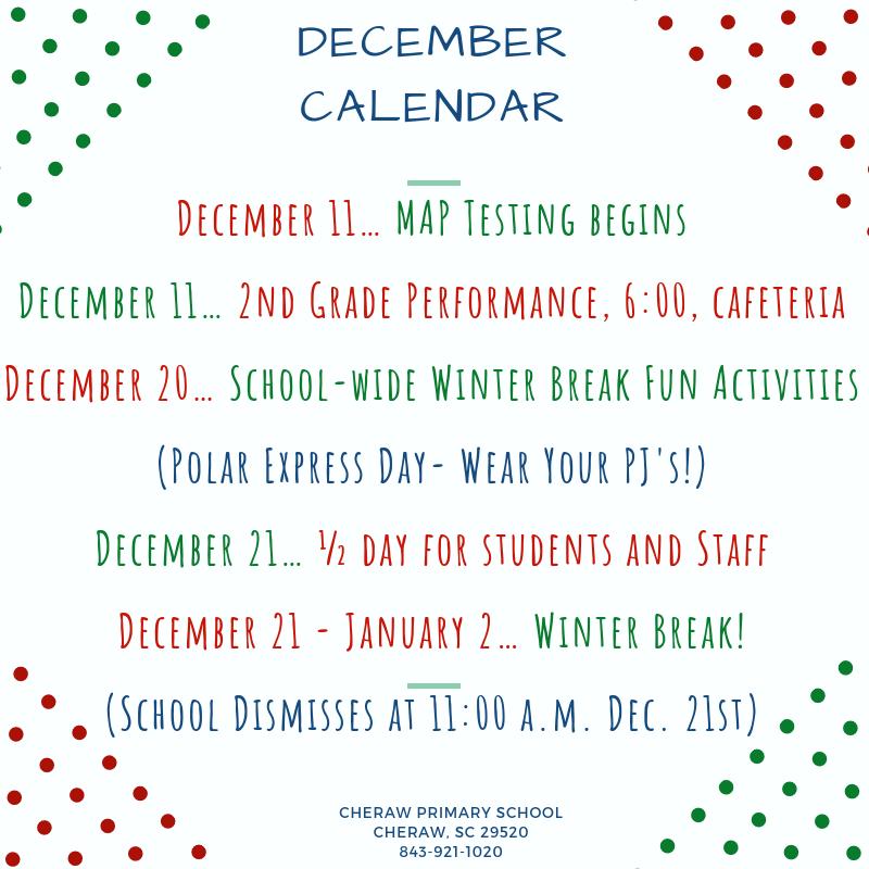 CPS December Calendar Featured Photo