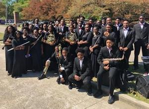 a photo of the BHS Symphonic Band after LMEA District IV Festival performance in Zachary, Louisiana