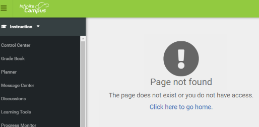Infinite Campus Instruction Page Not Found Error Thumbnail Image