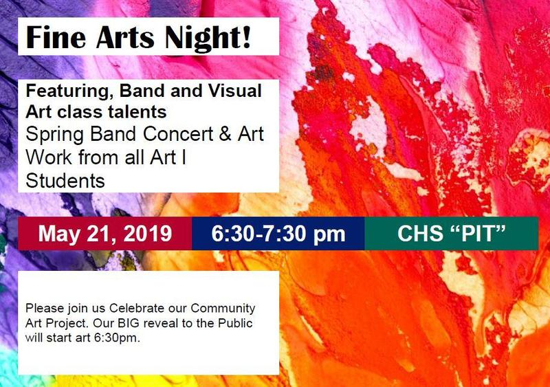 Fine Arts Night Flyer