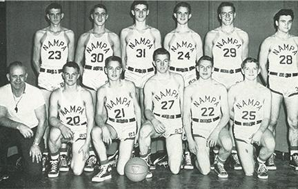 1949 NHS basketball team.