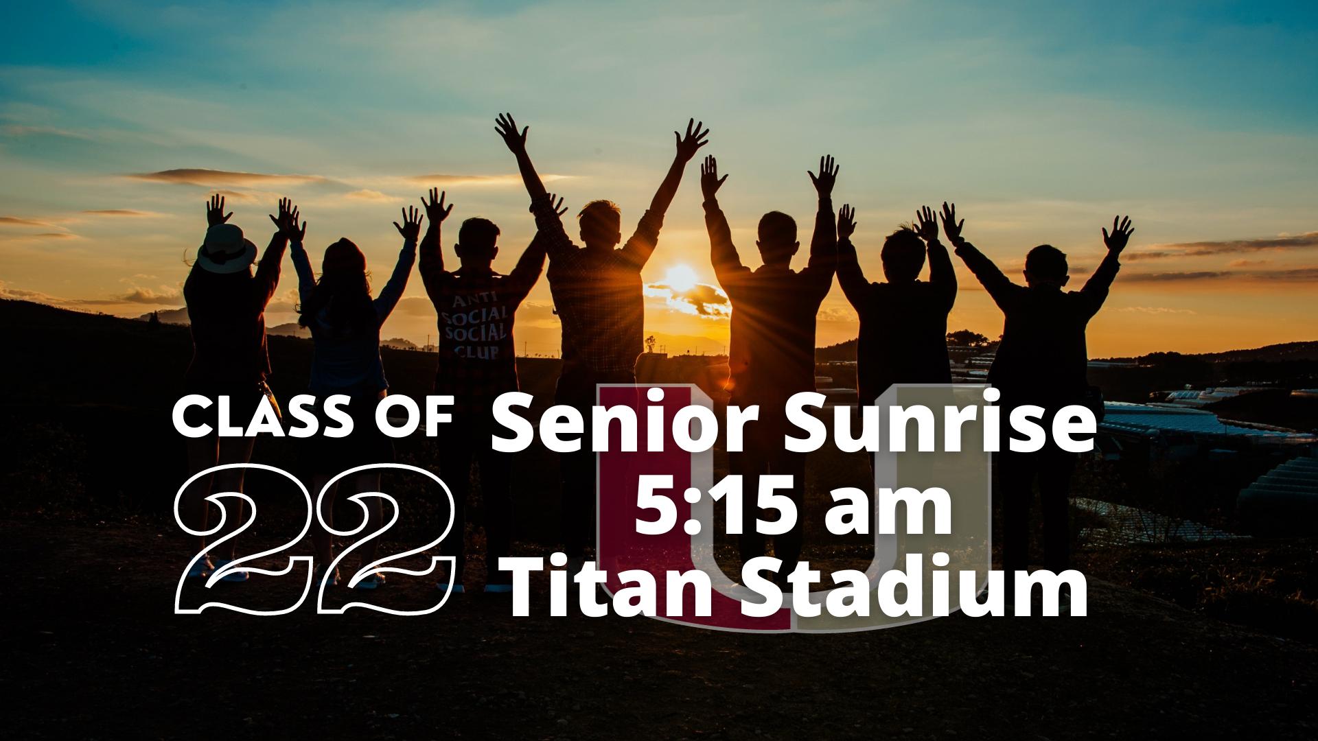 Senior Sunrise Info