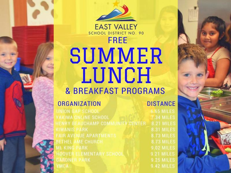 Click on read more for a full list of free summer lunch programs.