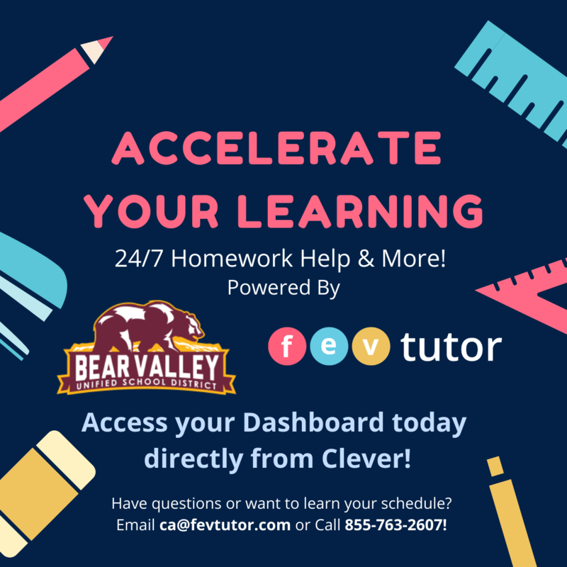 Bear Valley Unified Free Tutoring Featured Photo