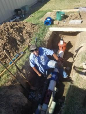 another man working in trench