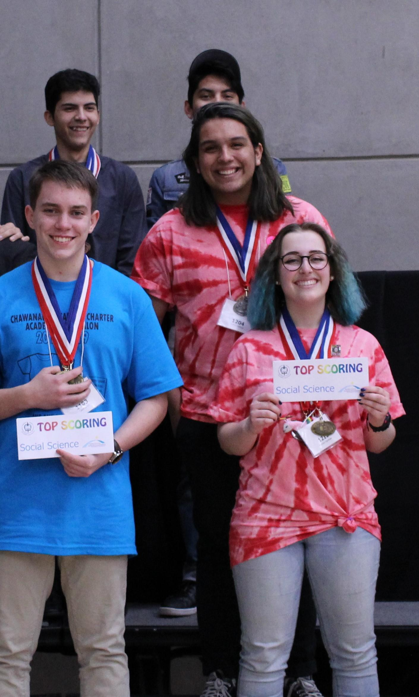 Social Science Medalists: Jovanny Martinez, Scholastic Silver; Madison Ingraham, Honor Gold