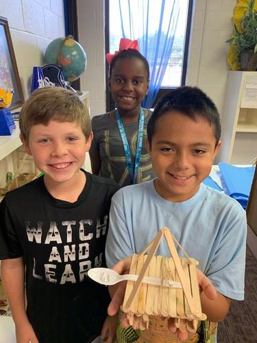 4th grade researched and constructed medieval siege weapons this week.