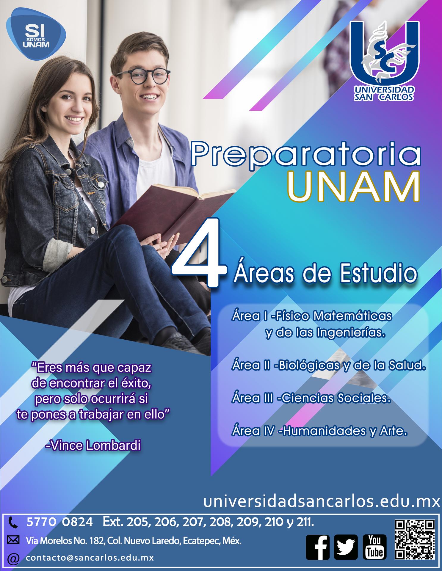 Incorporación Preparatoria UNAM, Universidad San Carlos