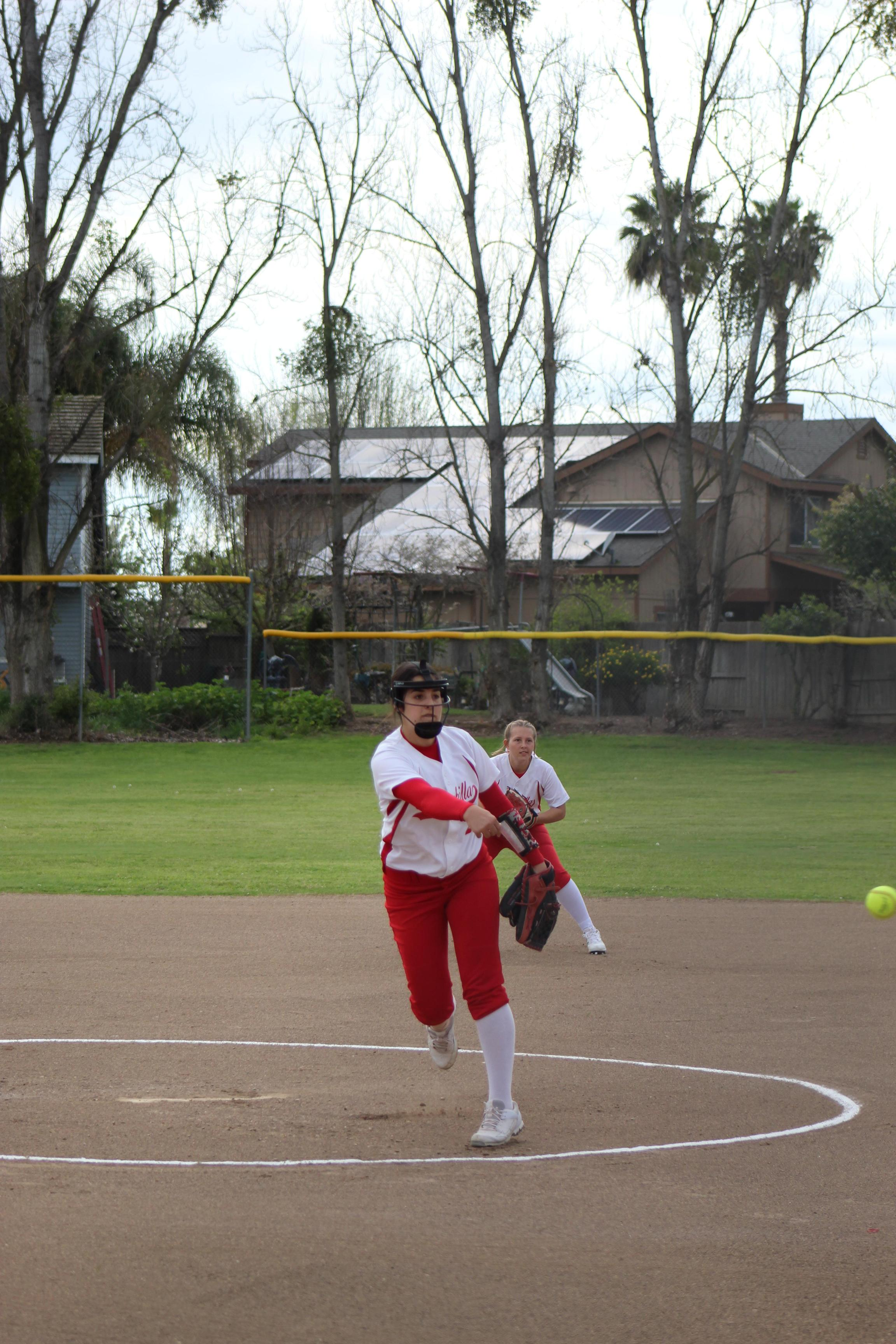 JV Girls playing softball against Sierra
