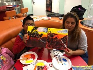 LAHSA Family Painting Night