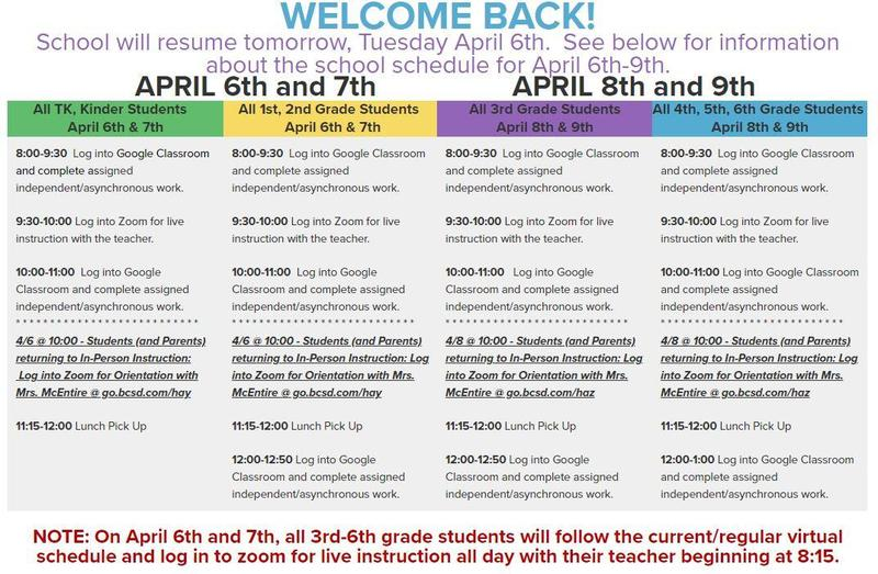 Schedule 4/6-4/9