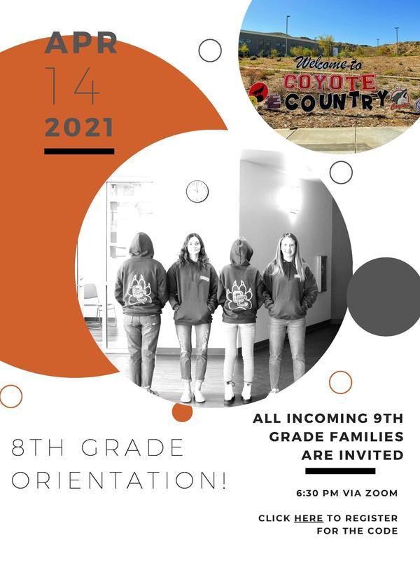 8th grade orientation flier