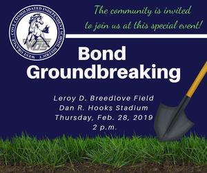 Bond groundbreaking flyer