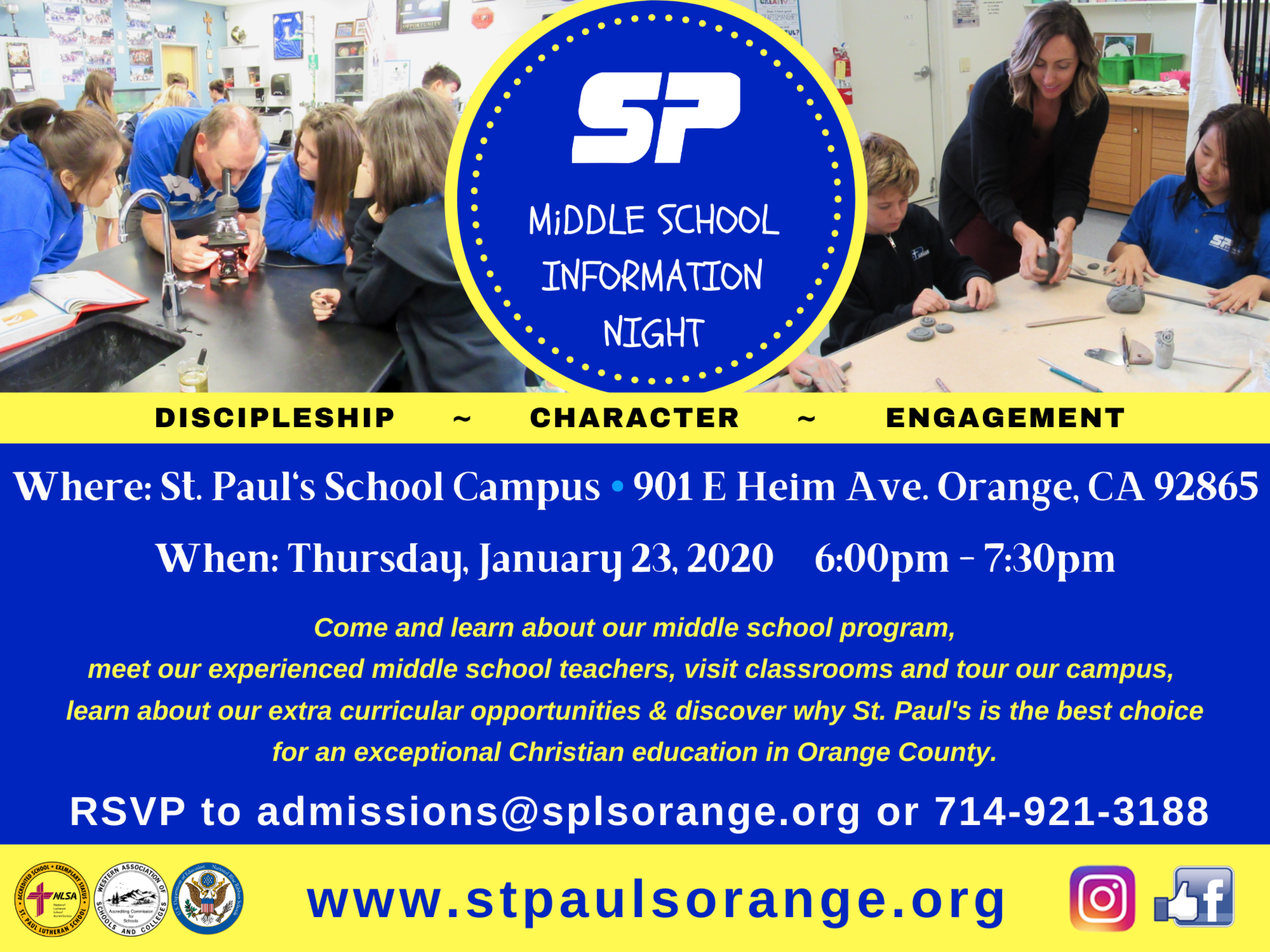 middle school info night