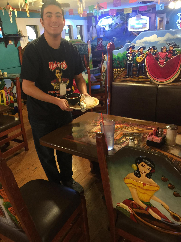 Team Members working at Herbert's Taco Hut
