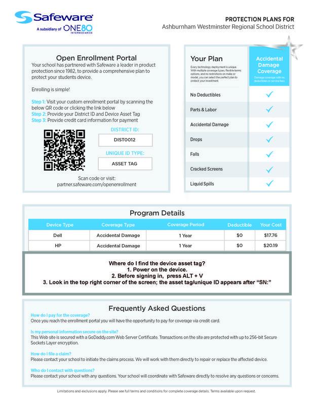Chromebook Insurance Information