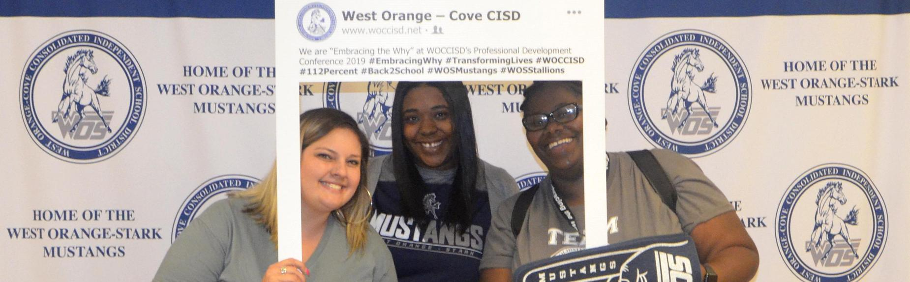 Staff members showed their school spirit at our Embracing the Why Professional Development Conference.