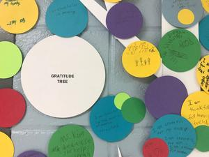 Close up of Gratitude Tree