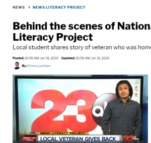 Liberty High student takes part in News Literacy Project