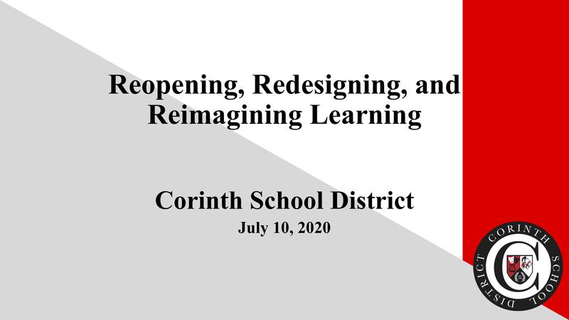 CSD Plan - Reopening, Redesigning, and Reimagining Learning Featured Photo