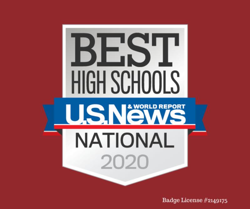 US News best high schools badge 2020