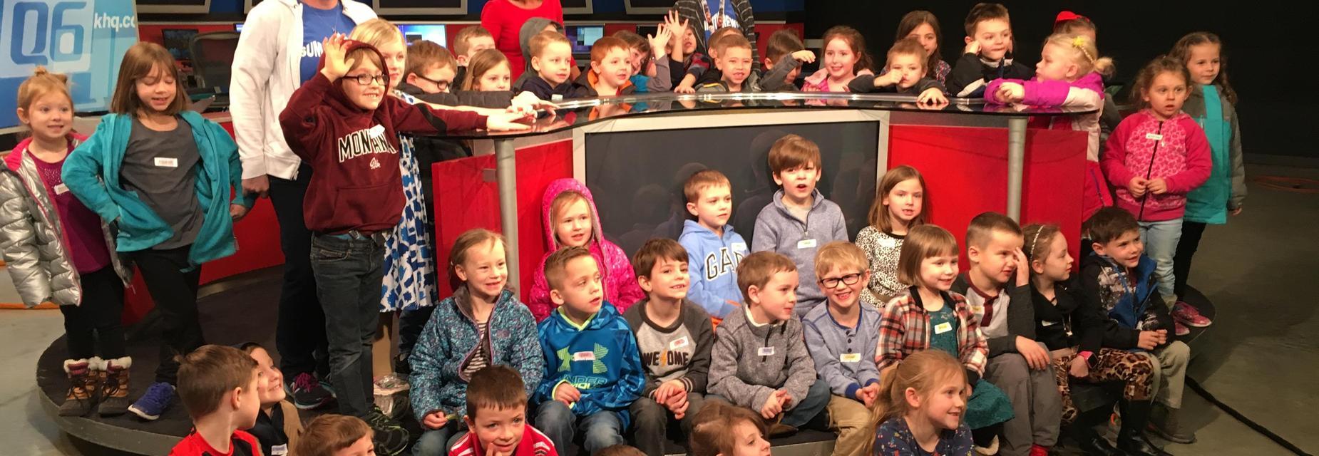 Kindergarten visits KXLY