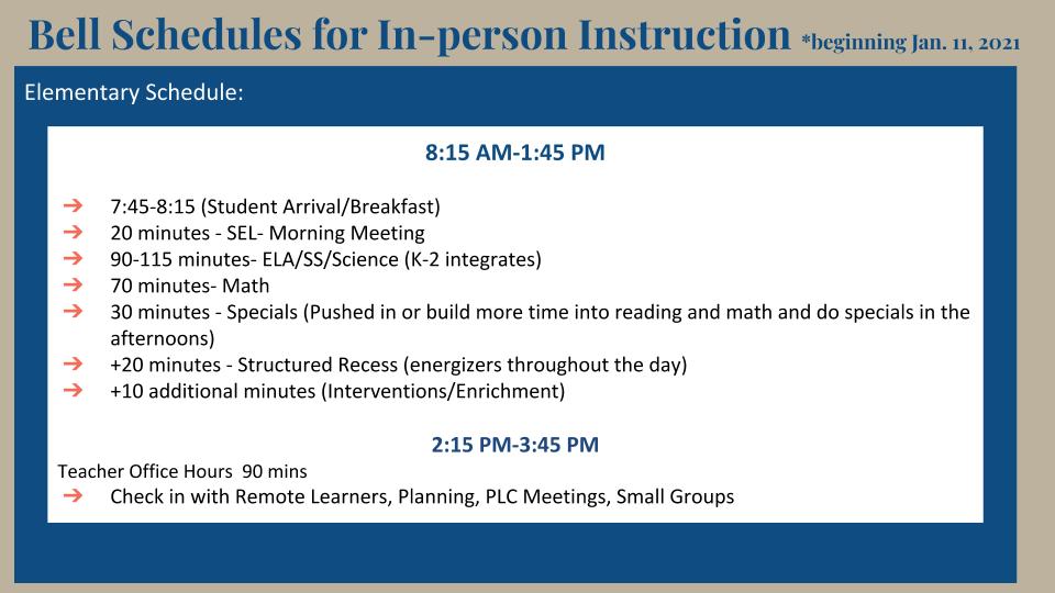 schedule ES