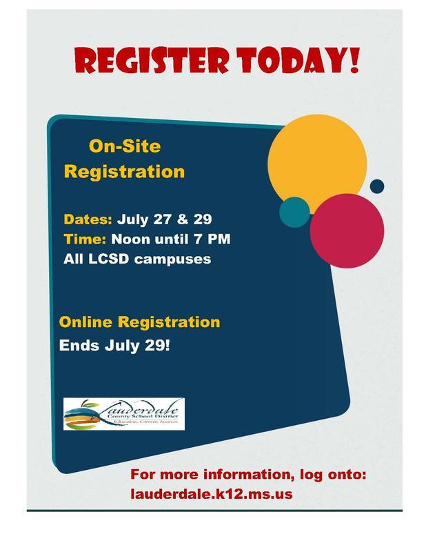 LCSD Registration Reminder Graphic