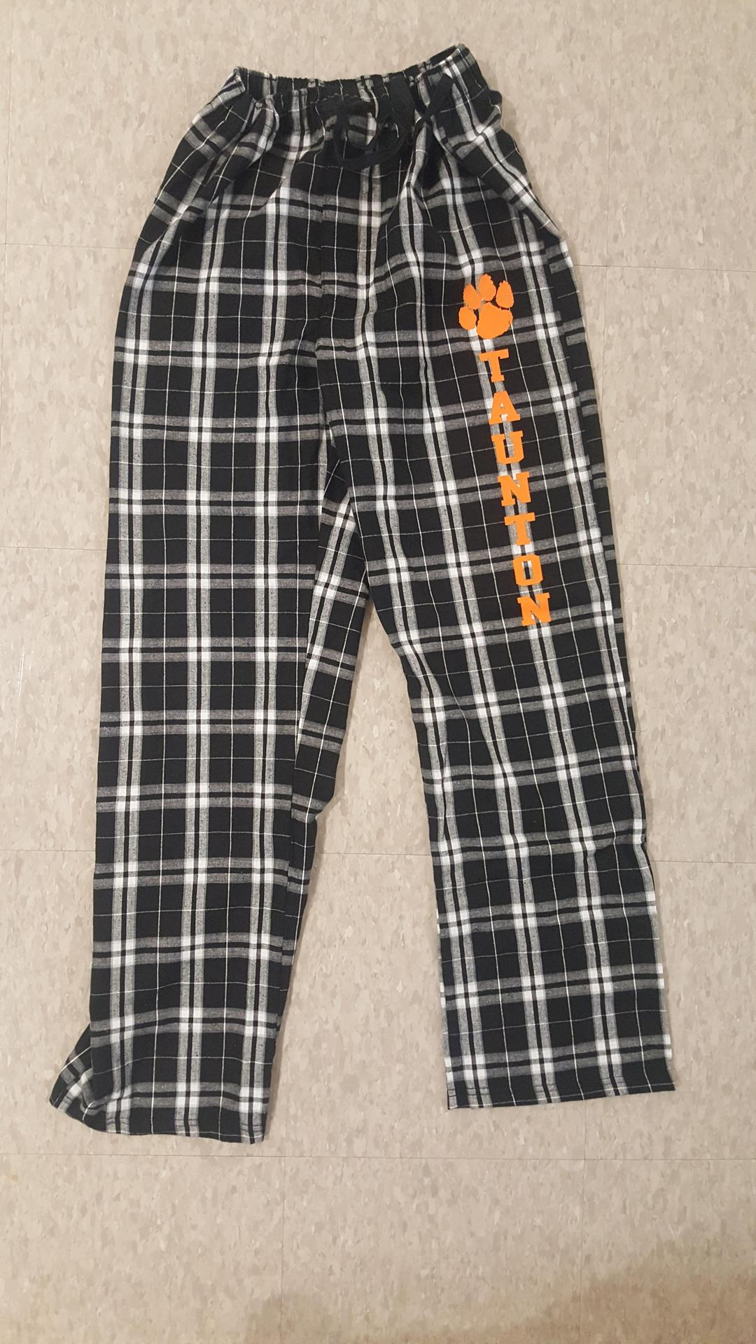 Black And white pajama pant with screen print Xs- xl  24.00