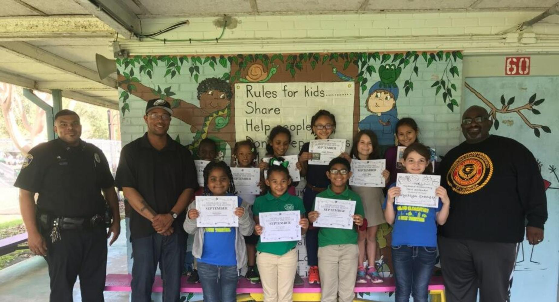 September Students of the Month with Dads & Kids