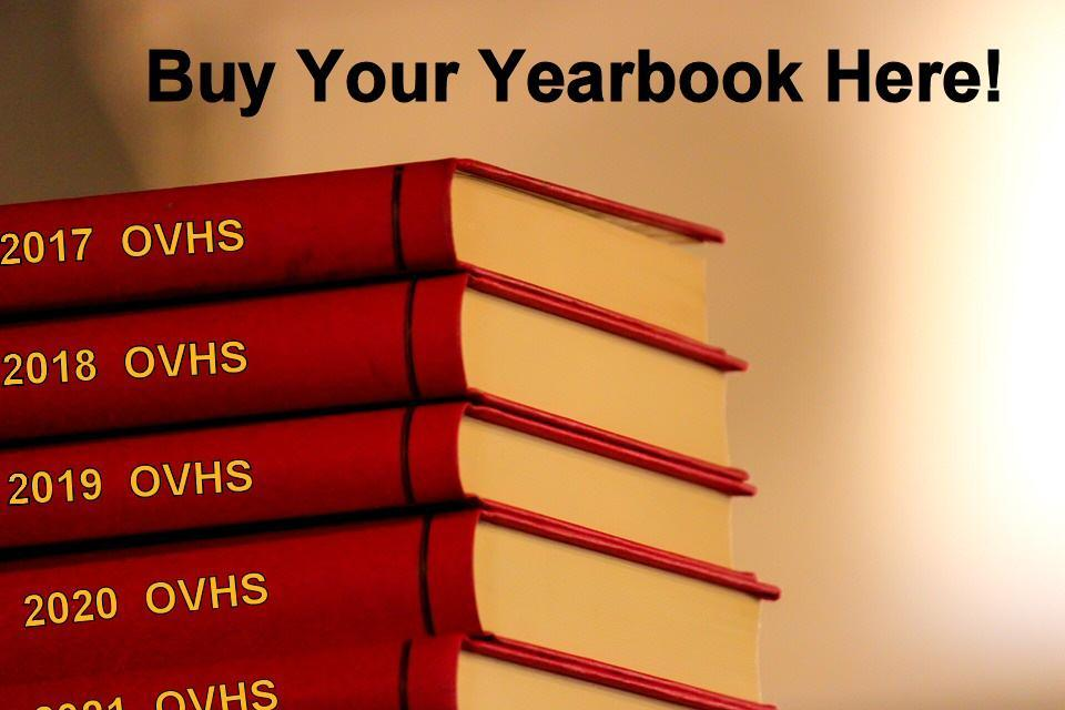 Stack of yearbooks