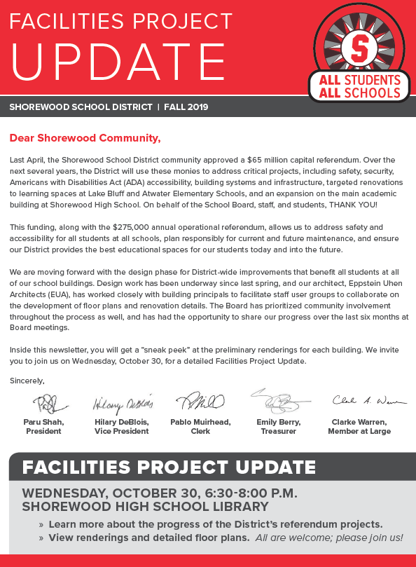 facilities design newsletter
