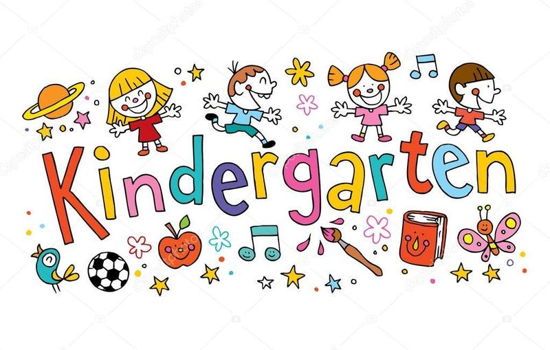 The image has the word kindergarten on it.