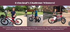 Principals challenge winners