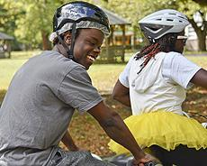 InTandem Bicycles on campus for Blind sports day
