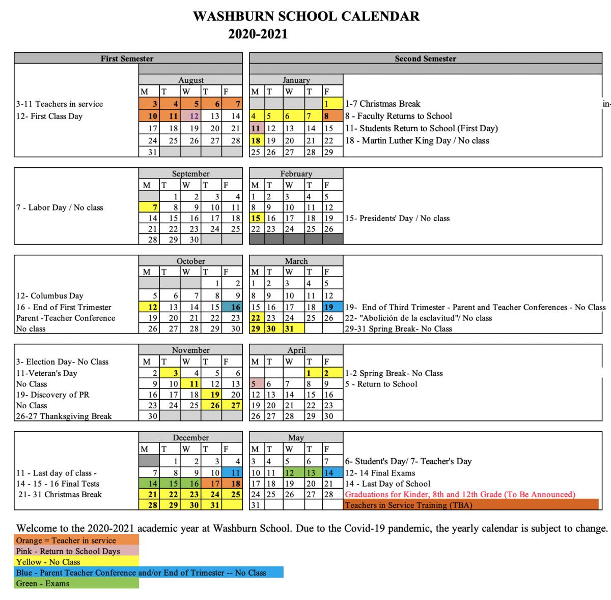 2020 2021 Official School Calendars – Official 2019 2020 Calendars