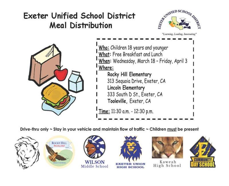 EUSD Meal Distribution- english