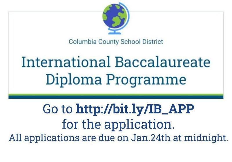 IB Applicaiton due jan. 24th  click here for applicaiton link