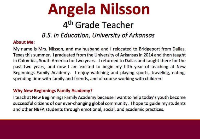 Mrs. Nilsson Bio