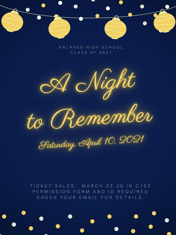 A Night to Remember--April 10, 2021