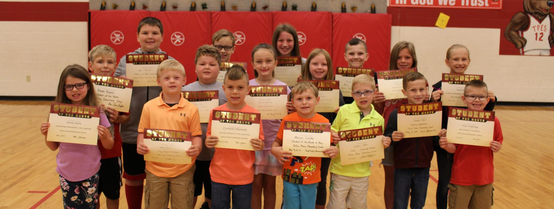 Picture of May 2019 Student of the Month recipients