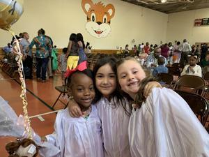Kindergarten students at promotion