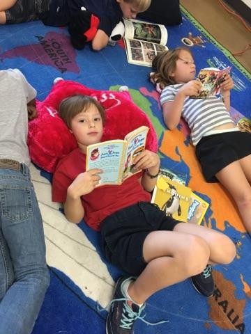 Second grade reading time.