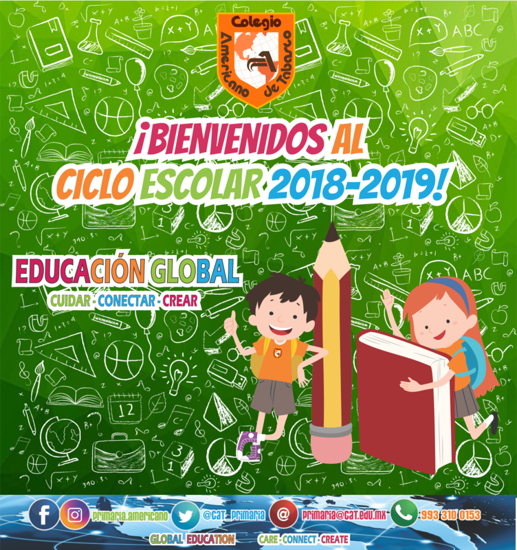 PRIMARIA: ¡Bienvenidos al ciclo escolar 2018-2019! Featured Photo