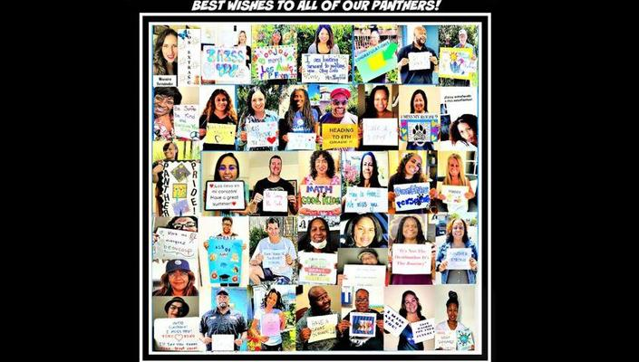Collage of best wishes to students from Parent teachers and staff