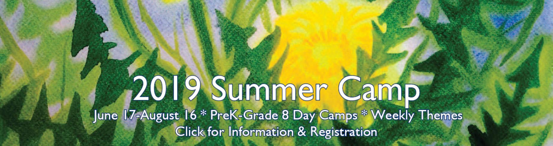 2019 Summer Camp Registration Link