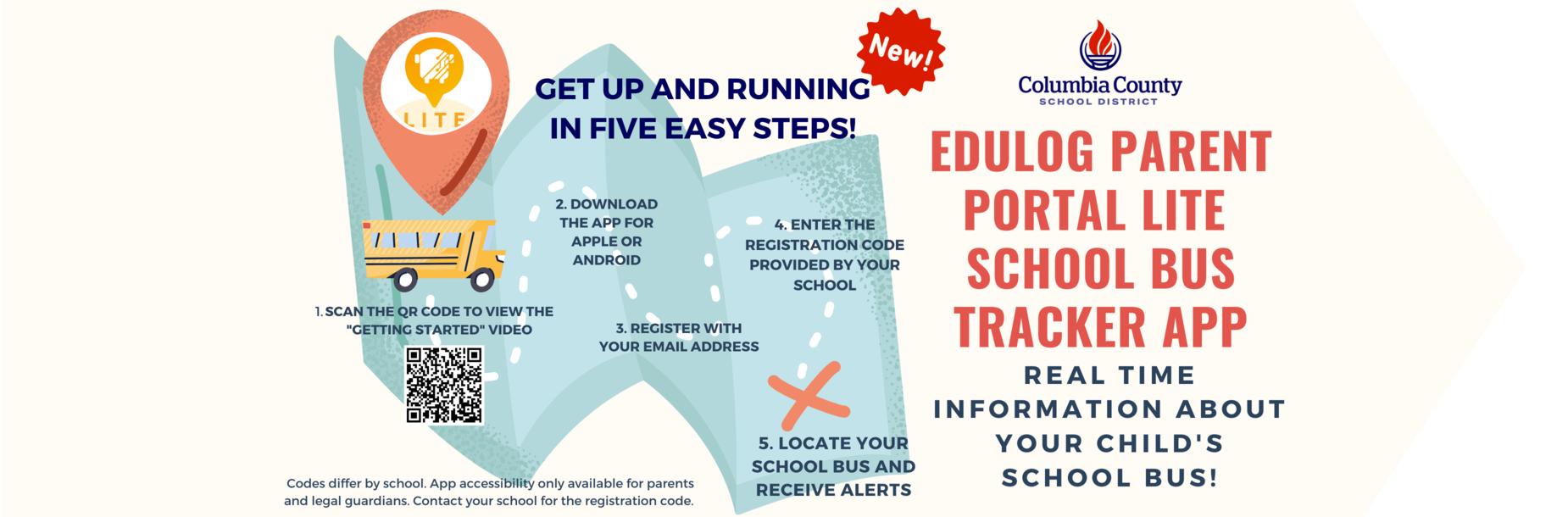 Edulog Parent Portal Lite School bus tracking app directions