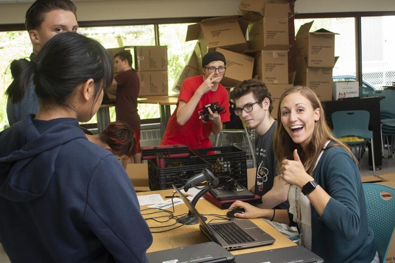 Students receive Chromebooks