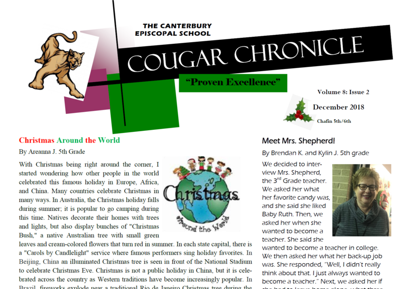 Second Edition of The Cougar Chronicle for 2018-2019 Thumbnail Image