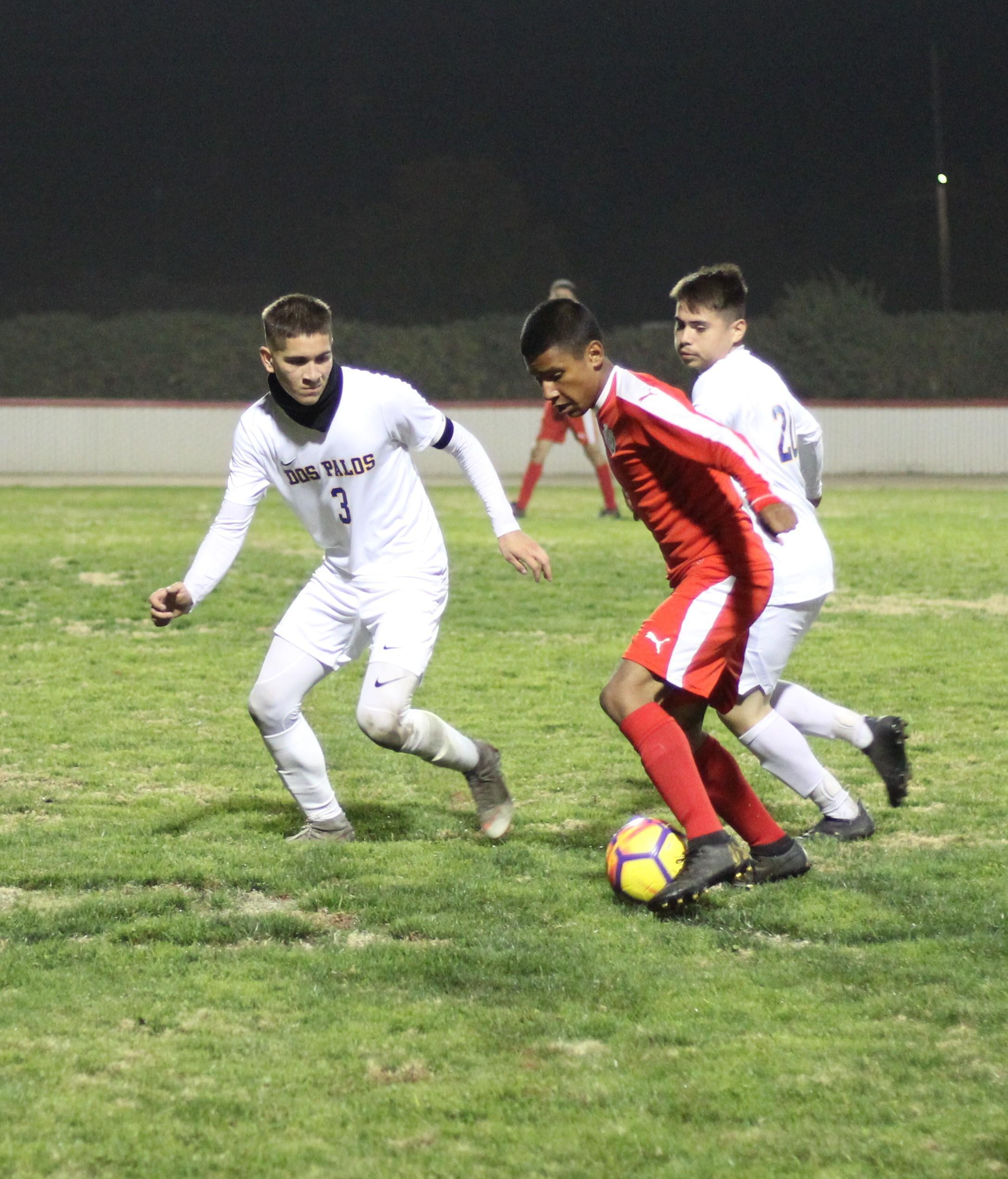 Cesar Galvan with the ball